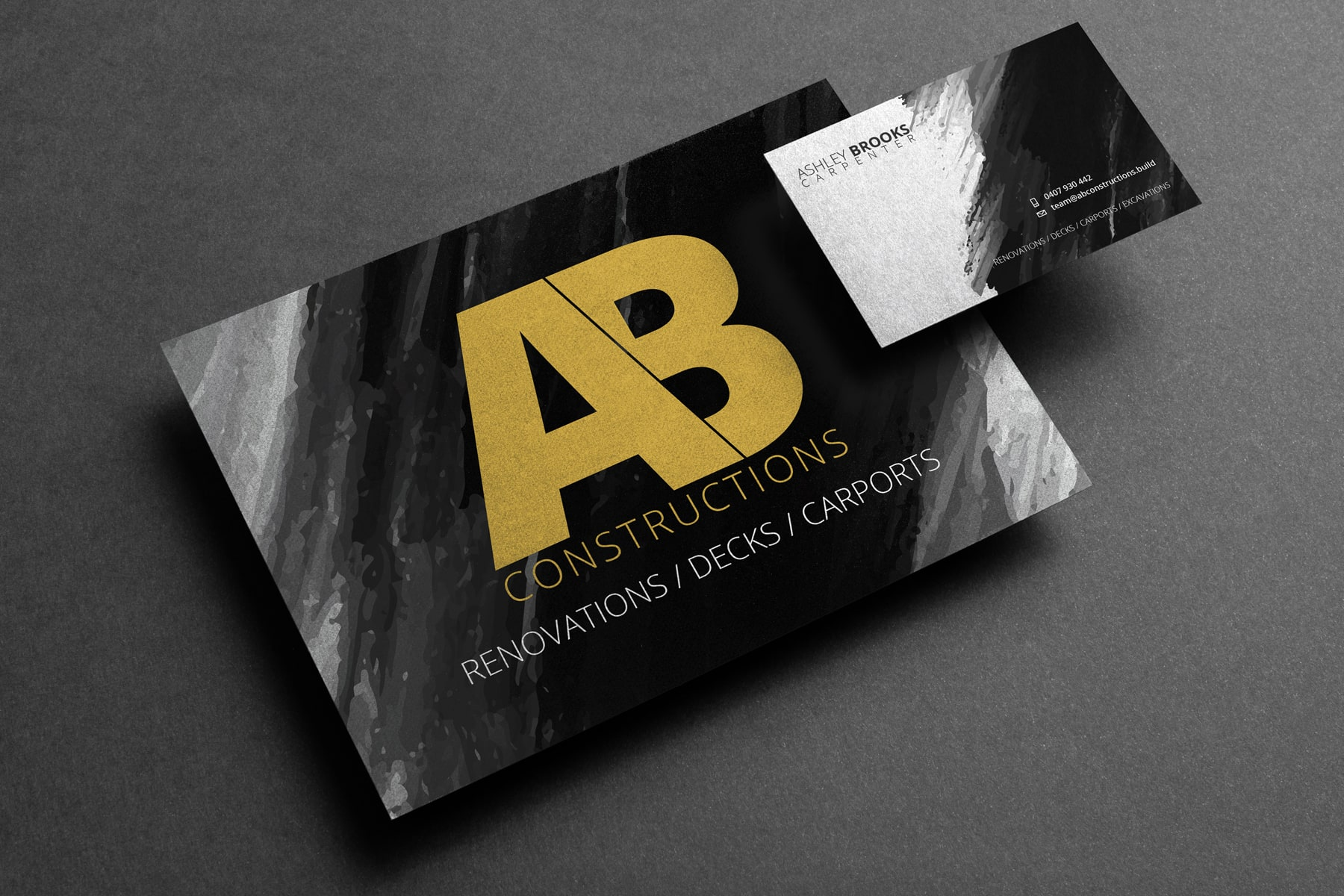 AB Constructions Business cards